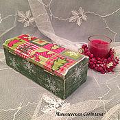 Для дома и интерьера ручной работы. Ярмарка Мастеров - ручная работа шкатулка для  украшений для подарка Новый год на праздник  декупаж. Handmade.
