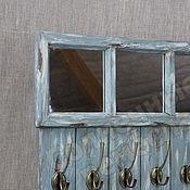 Для дома и интерьера ручной работы. Ярмарка Мастеров - ручная работа Вешалка настенная с зеркалом. Handmade.