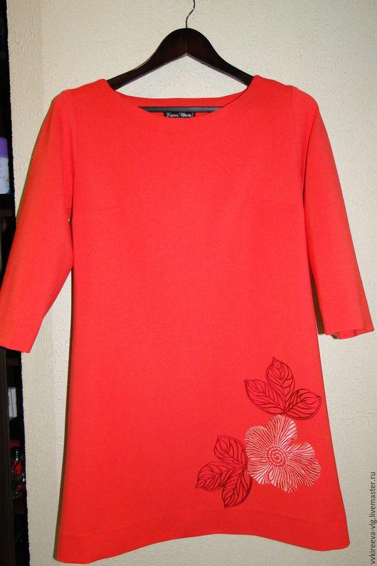 Платья ручной работы. Ярмарка Мастеров - ручная работа. Купить Платье с вышивкой, индивидуальный пошив. Handmade. Цветочный, джерси