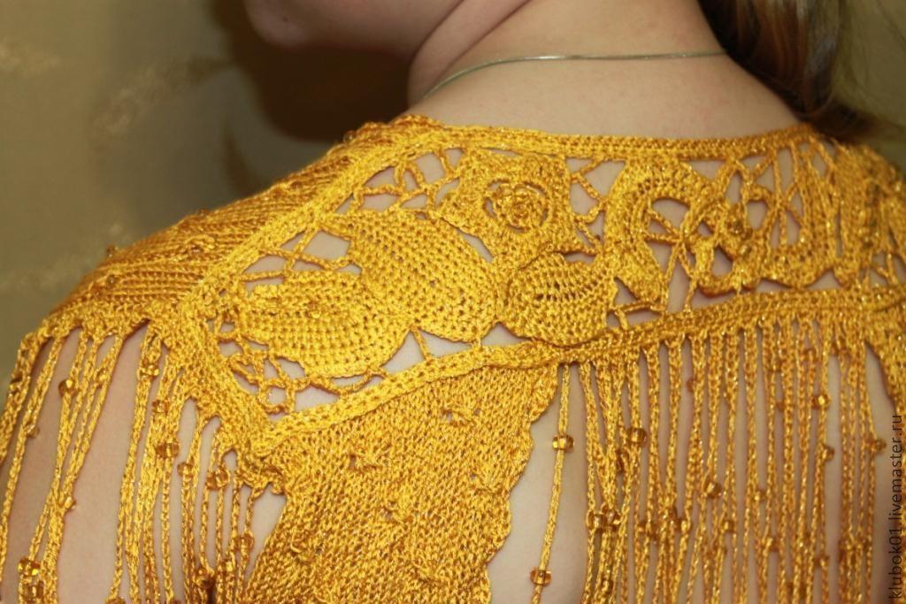 Вязание золотыми нитками 22