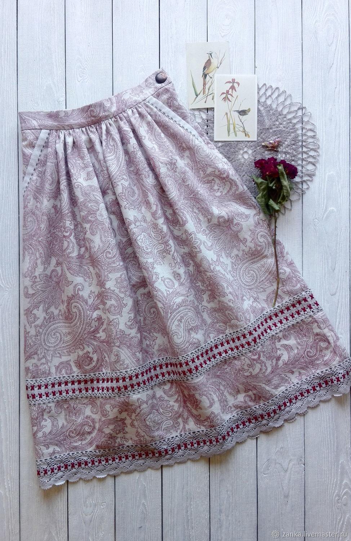 Skirt 'Summer wind' red, Skirts, Baranovichi,  Фото №1
