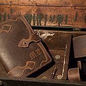 Канцелярские товары handmade. Livemaster - original item Diary Leather. Handmade.