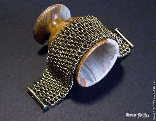 """Браслеты ручной работы. Ярмарка Мастеров - ручная работа. Купить Браслет """"Бронзовый дракон"""". Handmade. Браслет, кольчужный браслет"""