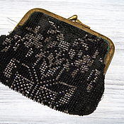 Vintage bags handmade. Livemaster - original item Vintage beaded purse on the clasp. Handmade.