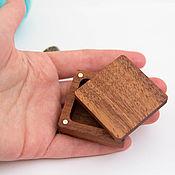 handmade. Livemaster - original item Wooden box for one ring. Handmade.