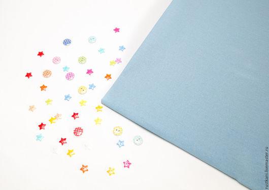 Шитье ручной работы. Ярмарка Мастеров - ручная работа. Купить Бязь голубая ГОСТ-100% хлопок-Ткань для рукоделия. Handmade.