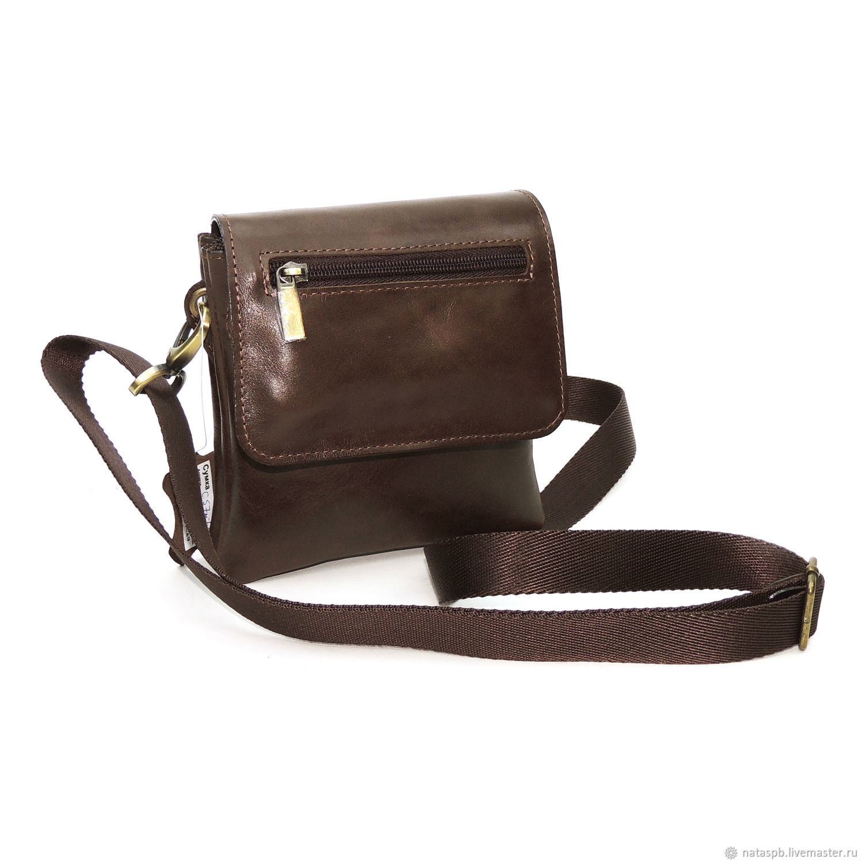 Men's bag: men's brown leather bag jean mod s57m-622, Men\'s bag, St. Petersburg,  Фото №1