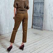 Одежда ручной работы. Ярмарка Мастеров - ручная работа Укороченные брюки в елочку. Handmade.