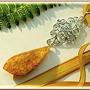 Pendants handmade. Livemaster - original item pendant warm autumn amber melchior. Handmade.