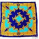 Дизайнер Анна Сердюкова (Дом Моды SEANNA). Роскошный авторский платок из коллекционного натурального шелка Dolce&Gabbana в ярких бирюзово-сине-золотых тонах. Размер платка - 60х60 см. Цена - 6900 руб
