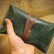 Фен-шуй и эзотерика ручной работы. Ярмарка Мастеров - ручная работа Кожаный чехол для карт Таро стандартный размер зеленый. Handmade.