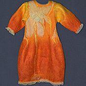 """Одежда ручной работы. Ярмарка Мастеров - ручная работа платеце валяное  """"Огневушка"""". Handmade."""