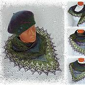 Аксессуары ручной работы. Ярмарка Мастеров - ручная работа Вязано-валяный берет, шаль-фишу и рукавички. Handmade.