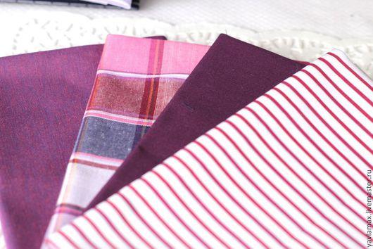 Шитье ручной работы. Ярмарка Мастеров - ручная работа. Купить Набор тканей Бордовый. Handmade. Ткань для рукоделия, ткань