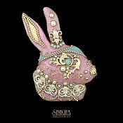 Украшения handmade. Livemaster - original item Pink Rabbit Brooch.. Handmade.