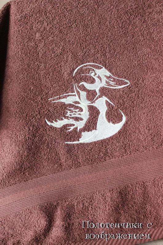 Ванная комната ручной работы. Ярмарка Мастеров - ручная работа. Купить Утка . Шоколадная версия.. Handmade. Бежевый, полотенце в подарок