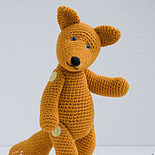 Куклы и игрушки ручной работы. Ярмарка Мастеров - ручная работа Вязаная лиса - мягкая игрушка. Handmade.