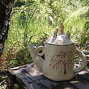 Посуда ручной работы. Ярмарка Мастеров - ручная работа Чайник Осенняя сказка. Handmade.