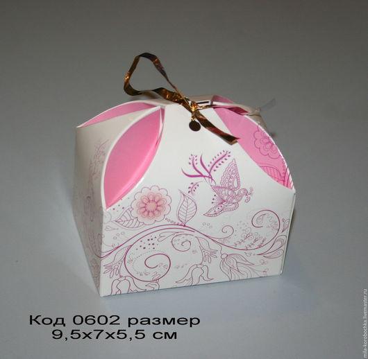 Код 0602 коробочка, бонбоньерка `сундучок большой` размер 9.5х7х5,5 см Закрывается при помощи завязочки (в комплект не входит).