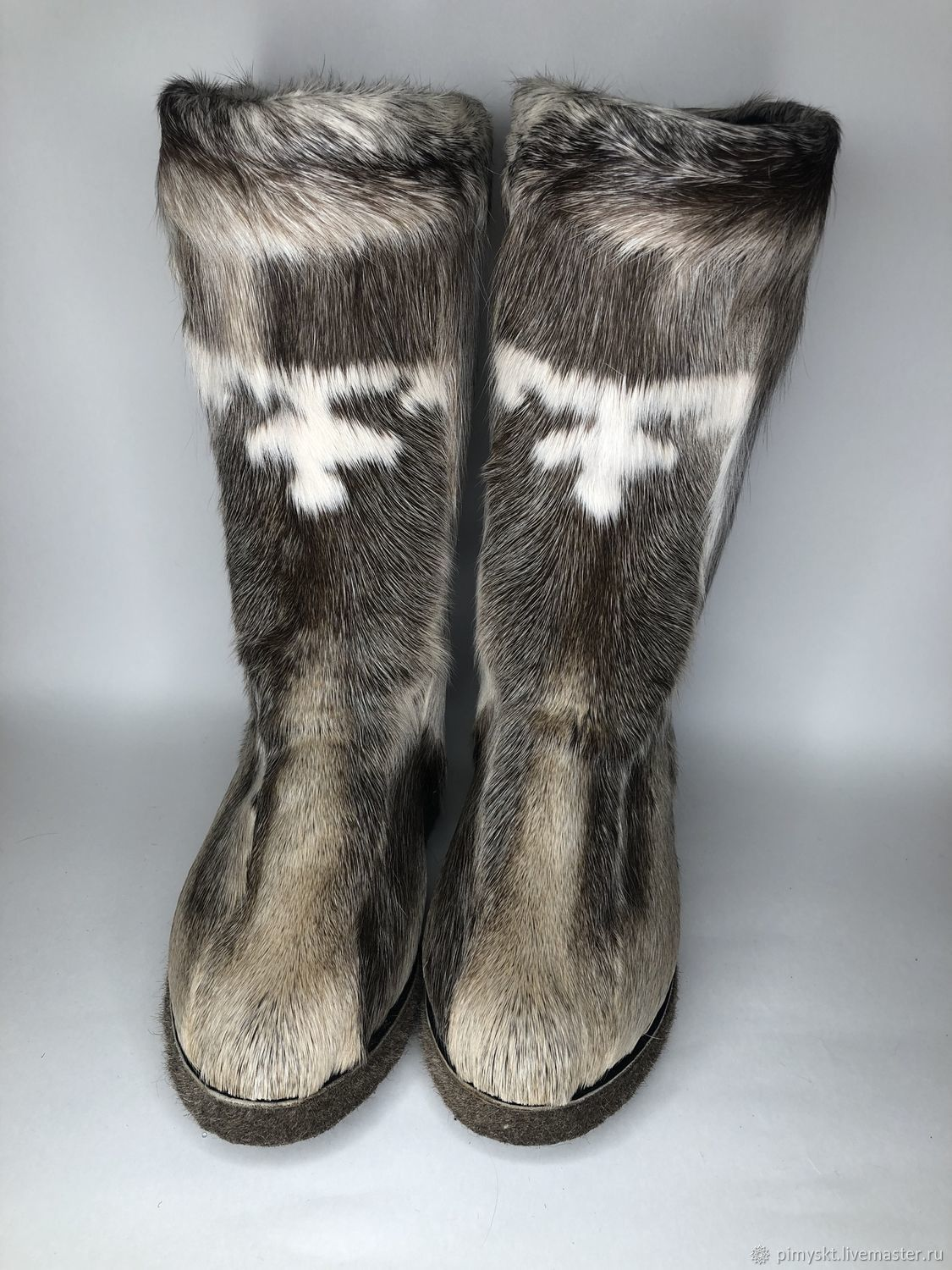 Felt boots made of genuine reindeer skin, Fur boots, Syktyvkar,  Фото №1