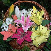"""Цветы и флористика ручной работы. Ярмарка Мастеров - ручная работа """"Лилии для Лилии""""-Интерьерная композиция. Handmade."""