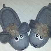 Обувь ручной работы. Ярмарка Мастеров - ручная работа тапочки домашние валяные из шерсти. Handmade.