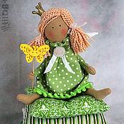 Куклы и игрушки ручной работы. Ярмарка Мастеров - ручная работа Малышка в зеленом (маленькая принцесса тильда). Handmade.