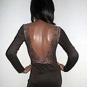 Одежда ручной работы. Ярмарка Мастеров - ручная работа Кружевное платье с открытой спиной. Handmade.