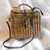 Подарки к праздникам ручной работы. Ярмарка Мастеров - ручная работа плетеная сумочка сундучок. Handmade.