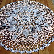 Для дома и интерьера ручной работы. Ярмарка Мастеров - ручная работа Мини-скатерть ажурная 7. Handmade.