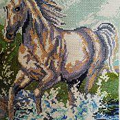 Панно ручной работы. Ярмарка Мастеров - ручная работа Лошадь. Handmade.