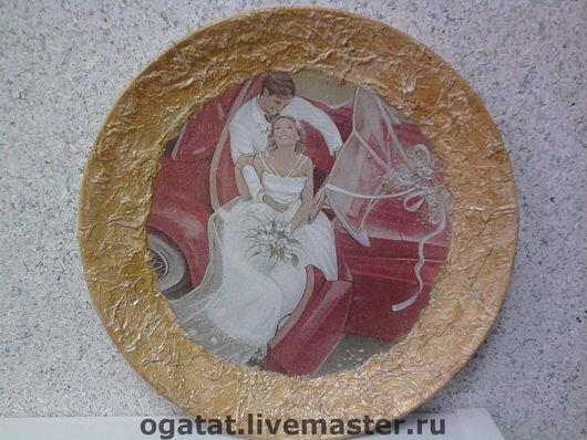 Подарки на свадьбу ручной работы. Ярмарка Мастеров - ручная работа. Купить Свадебная тарелочка. Handmade.