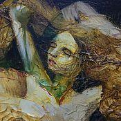 Картины и панно ручной работы. Ярмарка Мастеров - ручная работа Картина мастихином подарок мужчине - танцующая страсть. Handmade.