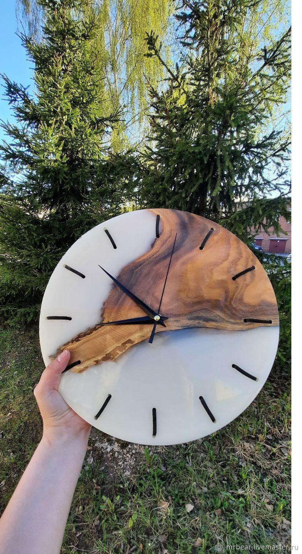 Часы из эпоксидной смолы, Часы классические, Ярославль,  Фото №1