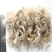 Материалы для творчества handmade. Livemaster - original item Hair for dolls from 11-15 to  cm (white, natural, unwashed). Handmade.