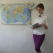 Одежда ручной работы. Ярмарка Мастеров - ручная работа юбка вязаная Клетка. Handmade.