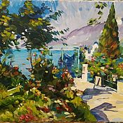 Картины и панно handmade. Livemaster - original item Pictures: Sunny day. Oil painting based on Korovin.. Handmade.