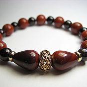 Украшения handmade. Livemaster - original item Bracelet garnet and red Jasper