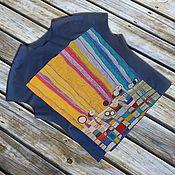 Одежда ручной работы. Ярмарка Мастеров - ручная работа Туника рисунок батик Хундертвассера. Handmade.