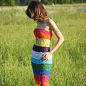 Одежда ручной работы. Ярмарка Мастеров - ручная работа Яркий ажурный сарафан. Handmade.