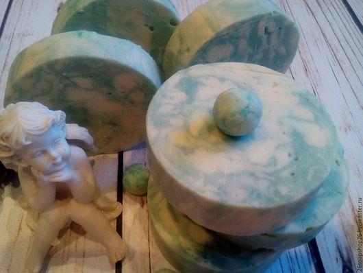 """Мыло ручной работы. Ярмарка Мастеров - ручная работа. Купить Натуральное """" Пихтовое """" мыло с нуля.. Handmade. Мятный"""