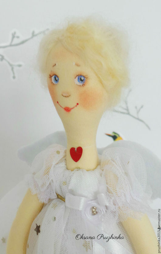Коллекционные куклы ручной работы. Ярмарка Мастеров - ручная работа. Купить Тутта. Звездный Ангел.. Handmade. Белый, ангел, звезды