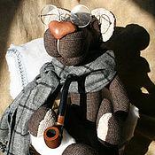 """Куклы и игрушки ручной работы. Ярмарка Мастеров - ручная работа мишка""""Шерлок Холмс"""". Handmade."""