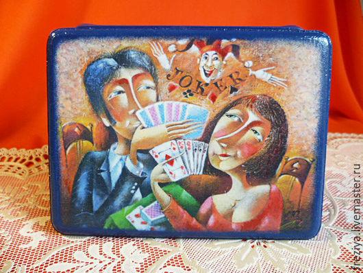 """Шкатулки ручной работы. Ярмарка Мастеров - ручная работа. Купить Шкатулка """"Джокер"""". Handmade. Комбинированный, подарок"""