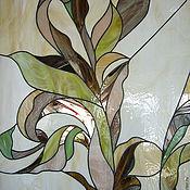 Для дома и интерьера ручной работы. Ярмарка Мастеров - ручная работа Витраж Листья аканта. Handmade.