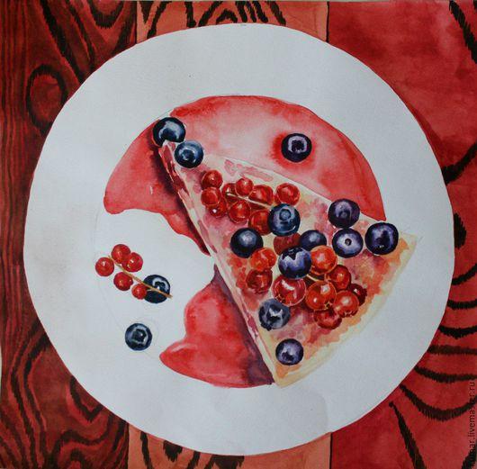 """Натюрморт ручной работы. Ярмарка Мастеров - ручная работа. Купить Пирог из серии: """"Тарелки"""". Handmade. Комбинированный, подарок на любой случай"""