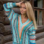 Одежда ручной работы. Ярмарка Мастеров - ручная работа Джемпер ``Turquoise dream``. Handmade.
