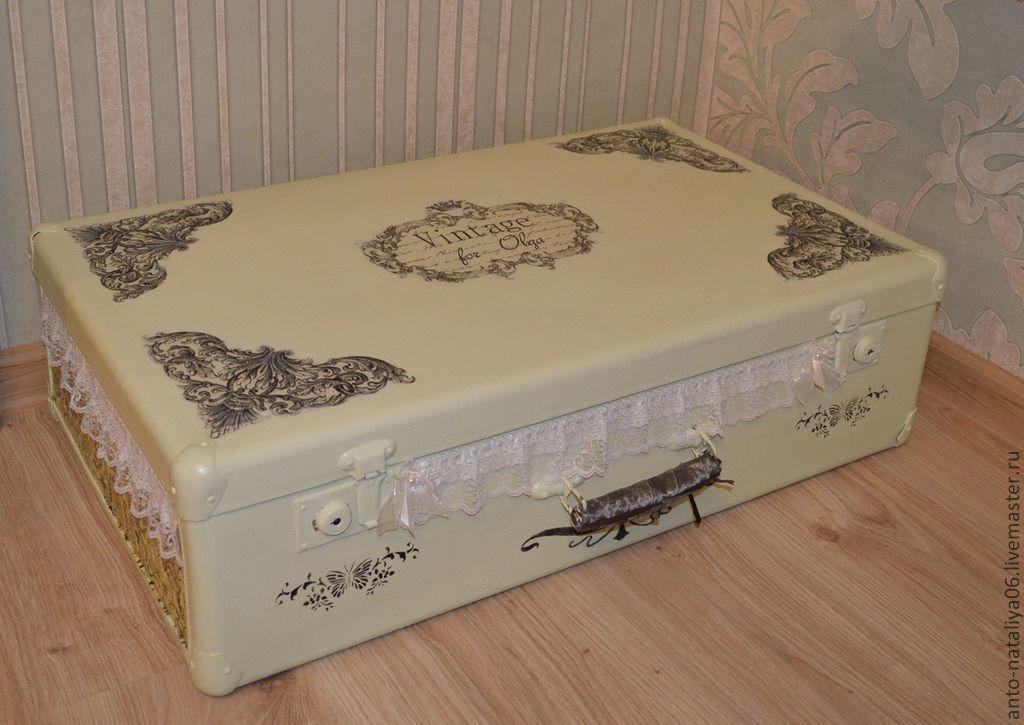Декупаж чемодана в стиле винтаж мастер класс - Нева Систем Плюс