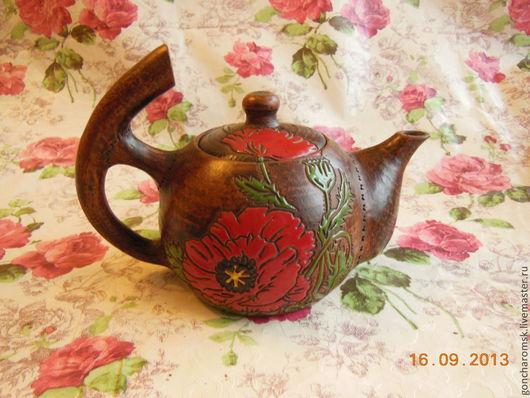 """Чайники, кофейники ручной работы. Ярмарка Мастеров - ручная работа. Купить Заварочный чайник """"Маков цвет"""". Handmade. Экологически чистая"""