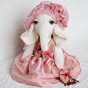 """Куклы и игрушки ручной работы. Ярмарка Мастеров - ручная работа Слоник в стиле шебби """"Матильда"""". Handmade."""
